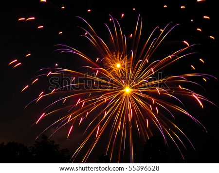 Colorful fireworks display for celebrations and joyous occasions