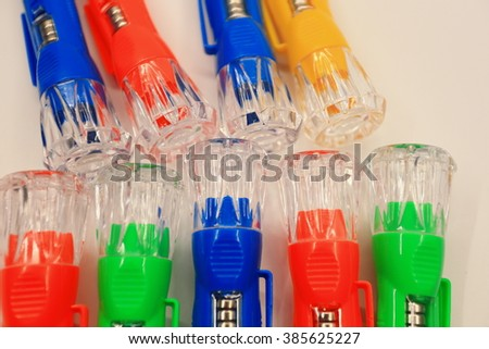 Colorful flashlight toy