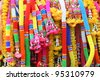 colorful garland background - stock photo