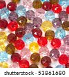 Colorful glass pearls - stock photo