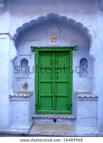 colorful hindu door