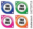 Colorful Label, Sticker TAX free collection - jpg format. - stock vector
