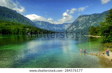 Colorful lake Bohinj, covering 318 hectares, is the largest permanent lake in Slovenia. It is located within the Bohinj Valley of the Julian Alps.