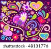 Colorful love doodle. For vector see my portfolio, image no. 44864464 . - stock vector
