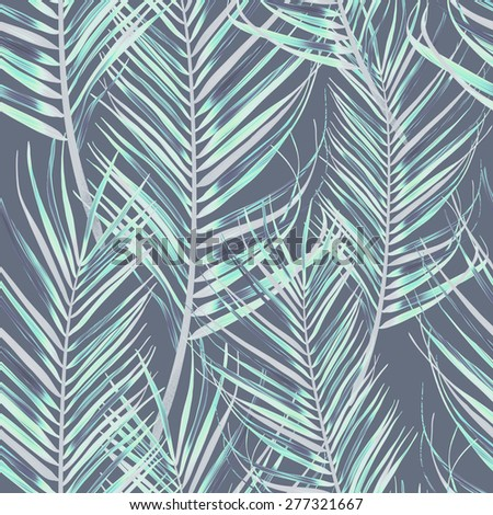 Colorful patter with leaves in botanical vintage style. Seamless stylish fashion floral pattern, Hawaiian style