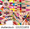 Colorful Pens Macro Collage/Set - stock photo