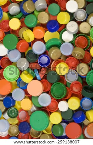 Colorful Plastic Caps Background Texture
