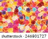 Colorful roses on background. - stock photo
