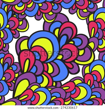 Colorful seamless pattern. Wavy abstract bright pattern. Can be used for textile, wallpaper, wrapping.