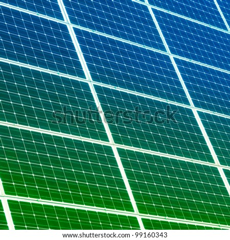 Colorful solar panels for background