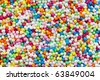 colorful sugar sprinkles - stock photo