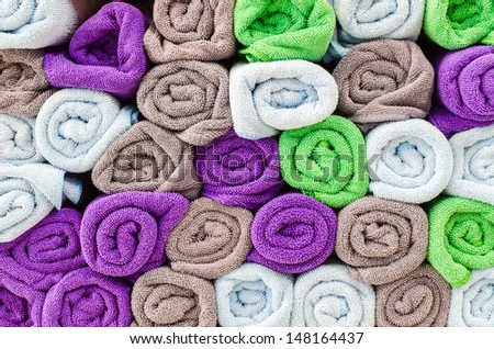 Colorful towel for background&texture