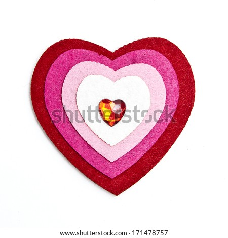 Colorful Valentines heart