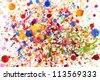 Colorful vivid  water color splash background - stock photo