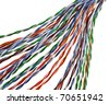 colorful wire isolated on white - stock photo