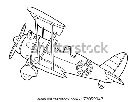 bi plane coloring pages - photo#8
