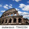 Colosseum of Ancient Rome - stock photo