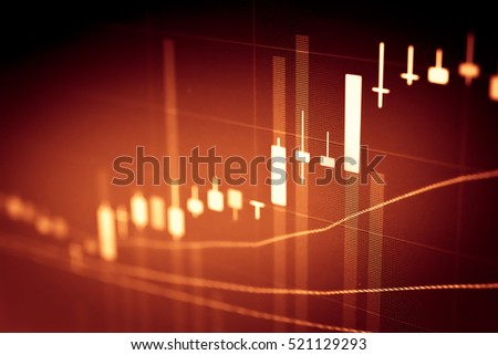 Colour business finance chart, diagram, bar, graphs. Financial graphs and charts for analyzing data.