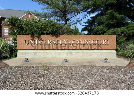 COLUMBIA, MO, USA - JULY 5:  An entrance sign at the University of Missouri in Columbia, Missouri on July 5th, 2016. The University of Missouri is a public land-grant research university.