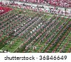 COLUMBUS,OH-SEPTEMBER 5:  The Ohio State Alumni band performs with the current OSU band before the game against Navy on September 5, 2009. - stock photo