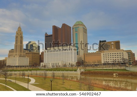 Columbus, Ohio sits along the banks of the Scioto River