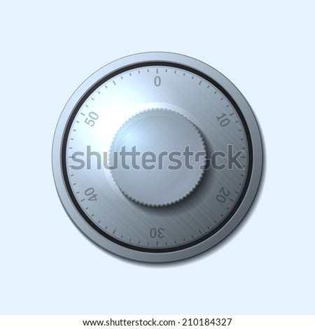 Combination lock wheel on light background.  illustration