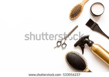 Combs Hairdresser Tools On White Background Stock Photo ...