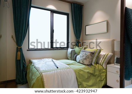 comfortable bedroom with nice decoration