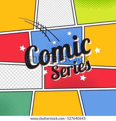 Comic Book Template Series Stock Vector 248461333 - Shutterstock