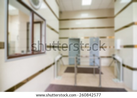 Common generic office building interior blur background