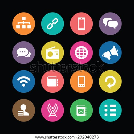 communication icons universal set for web and mobile