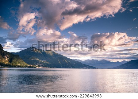 Como Lake. Northern Italy. European travel, vacation, summer, destination, exploration and lifestyle concept.