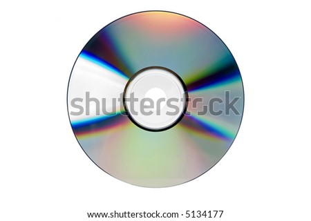 compact disc close up shoot on white