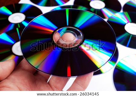 compact disc on hand