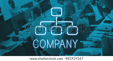 Company Organization Chart Business Concept