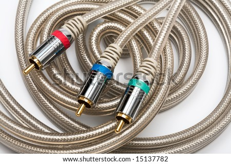 component video cable with a gold covering