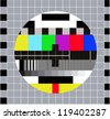 Composition of different colorful tiles. Routine RGB maintenance, when channel tv have technical problems - stock vector