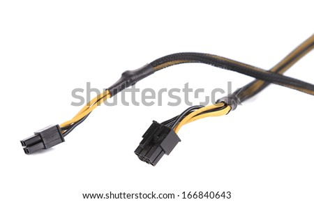 Computer connection plugs. Isolated on a white background.