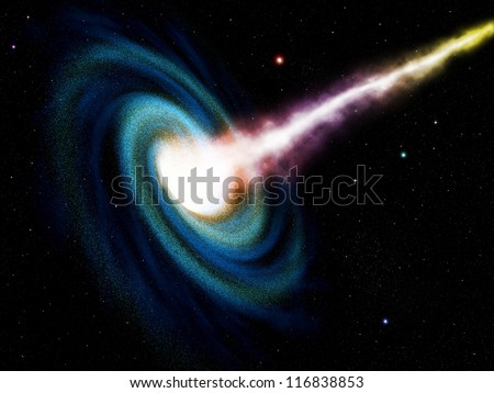 Image Galaxies Nebulae Cosmos Effect Tunnel Stock Vector ...