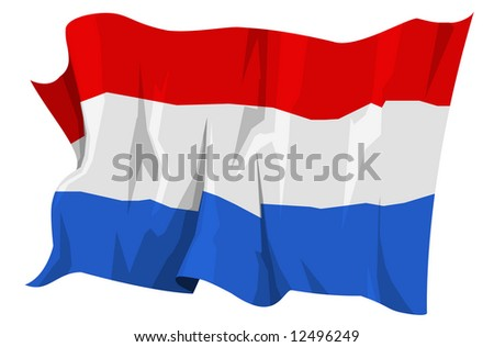 Computer generated illustration of the flag of Netherlands