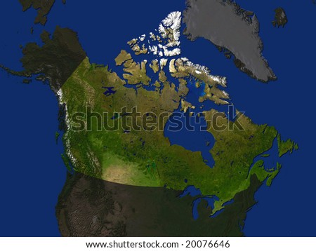 Canada Shaded Relief Map Major Urban Stock Illustration - Relief map of canada