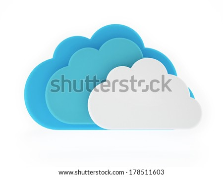 Concept Cloud on White Background