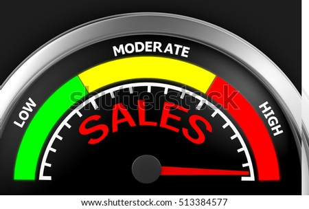 Concept image for illustration of sales in the highest meter , 3d rendering