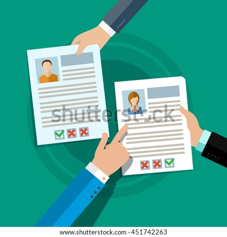 concept of searching professional staff analyzing personnel resume recruitment human resources management - Resume Professional