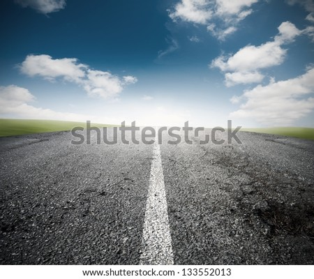 Concept of the road for the success