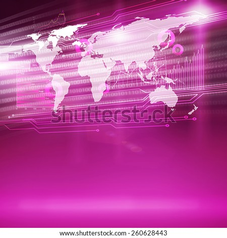 Conceptual color background image with global interaction concept