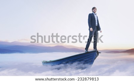 conceptual image of an ambitious businessman
