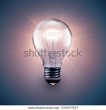 conceptual image of idea with a light bulb