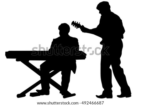 Silhouettes Sitting People Stock Vector 103870787