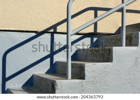 Concrete beige and gray Outdoor Staircase